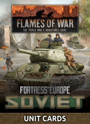 Fortress Europe Soviet Unit Cards (Late War)
