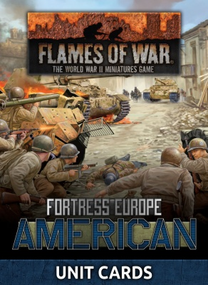 Fortress Europe American Unit Cards (Late War)