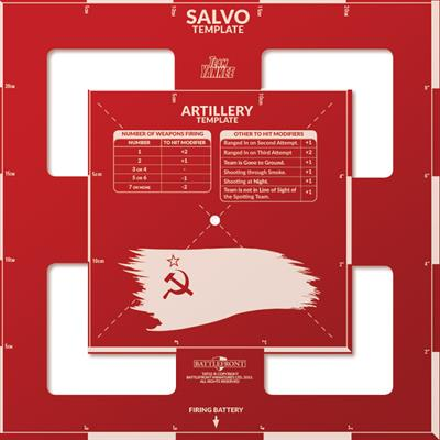 Soviet Artillery and Salvo Template