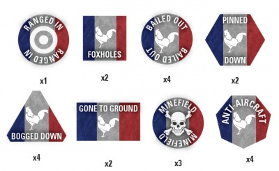 Team Yankee French Token Set (x22)