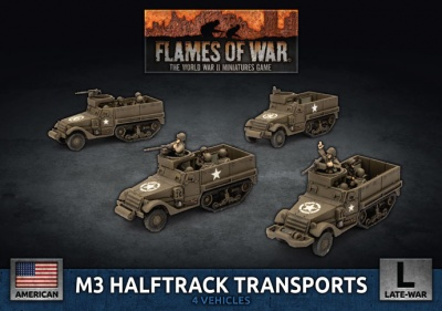 M3 Halftrack Transport Platoon (Plastic)