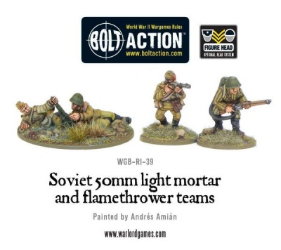 Soviet 50mm Light Mortar & Flamethrower Teams