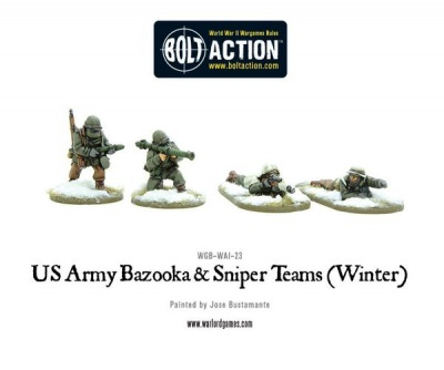 US Army Winter Bazooka and Sniper Teams