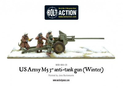 US Army Winter M5 3'' Anti-Tank Gun