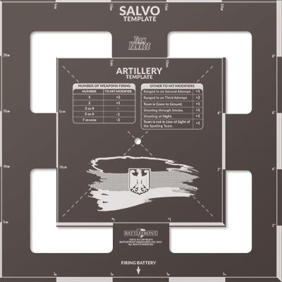 West German Artillery and Salvo Template