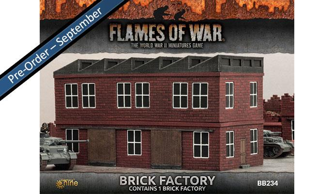 Battlefield in a Box Brick Chimneys Flames of War BB236