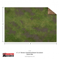 Monster Scenery 6x4 Broken Grassland / Desert Scrubland Game Mat