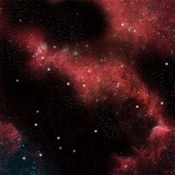 Crimson Gas Cloud Space Mat (36'' x 36'')