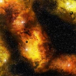 Fiery Nebula Space Mat (36'' x 36'')