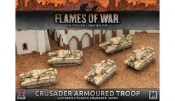 Desert Rats Crusader Armoured Troop (Plastic)