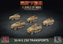 Sd Kfz 250 Reconnaissance (MG and 3.7cm) Platoon (x7 Plastic)