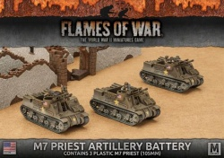 M7 Priest Armored Artillery Battery (3x Plastic)