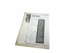 Warhammer 40,000 Quick start core rules fold out card
