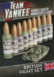 Team Yankee British Paint Set (9 paints)