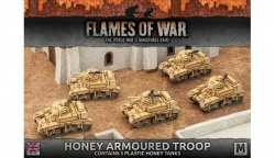 Desert Rats Honey Armoured Troop (Plastic)