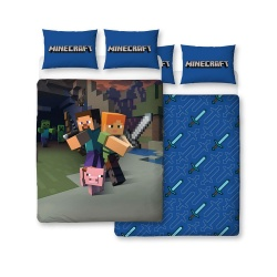 Minecraft Duvet Set Reversible Good Guys 200 x 200 cm / 48 x 74