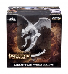 Pathfinder Battles Deep Cuts Unpainted Miniatures Gargantuan White Dragon