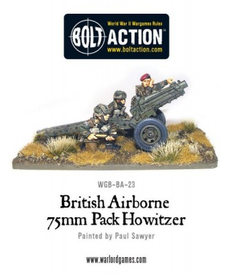 British Airborne 75mm Pack Howitzer & Crew