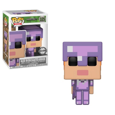 Minecraft POP! Games Vinyl Figure Alex in Enchanted Armour 9 cm