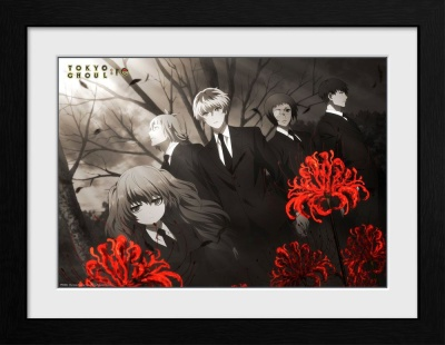 Tokyo Ghoul Collector Print Framed Poster Red Flowers