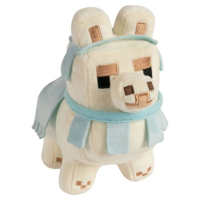 Minecraft Happy Explorer Plush Figure Baby Llama White/Baby Blue 16 cm