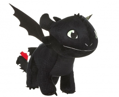 How to Train Your Dragon 3 Plush Figure Toothless Glow In The Dark 60cm