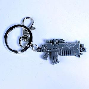 Warhammer 40K Metal Keychain Bolter Metallic Finish