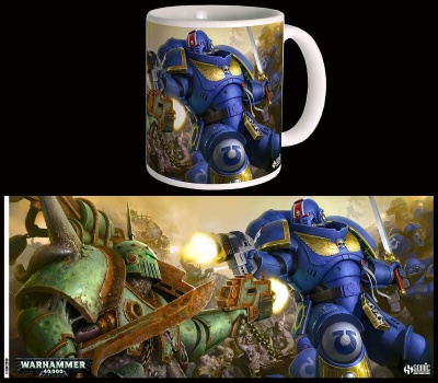Warhammer 40K Mug First Strike Ultramarines VS Nurgle